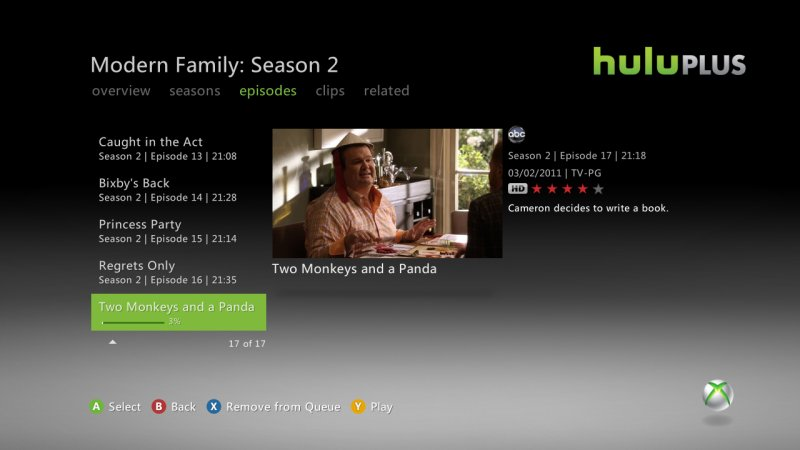 Review: Hulu Plus for Xbox 360 @ The en: Gaming, gadget ...