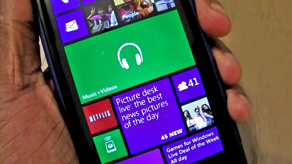 Windows Phone 8 Homes screen