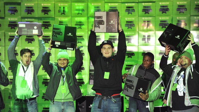 Day One buyers with their Day One Edition Xbox One consoles.