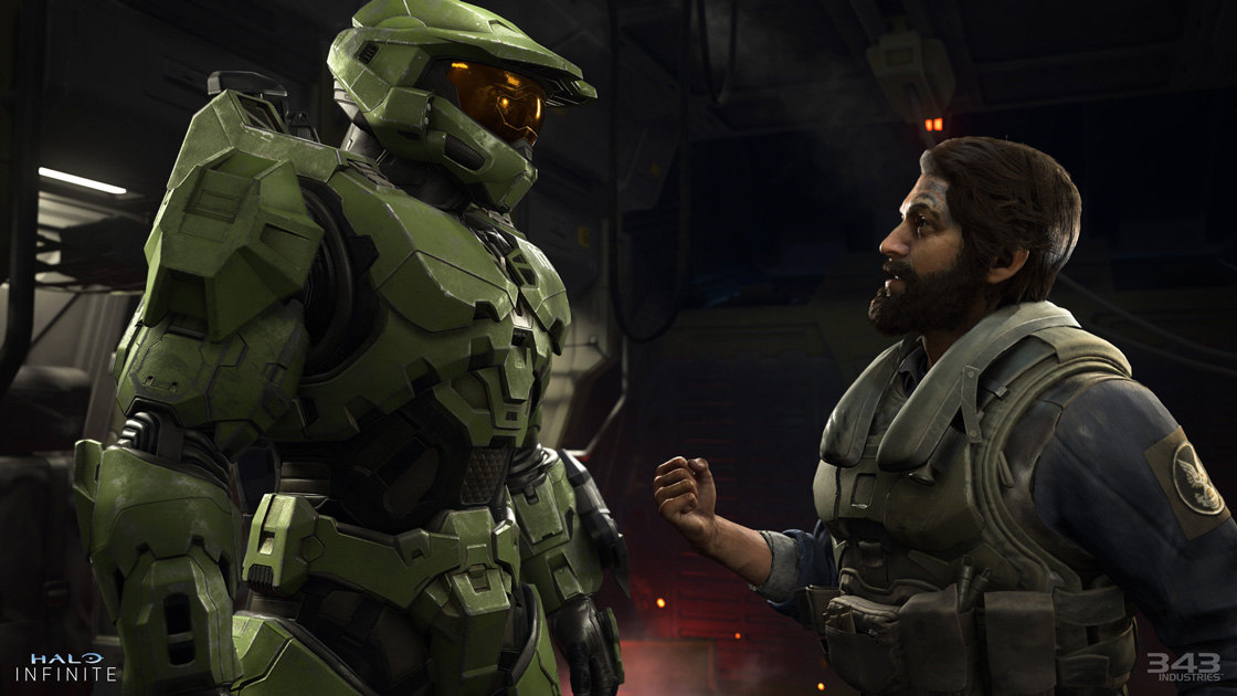 John 117 and The Pilot in Halo Infinite